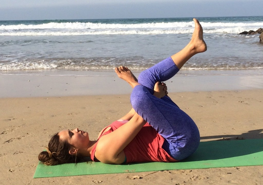 yin yoga lower back stretch ankle to knee