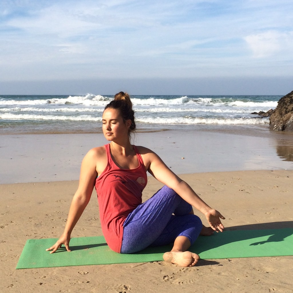 Lower back yin yoga twist
