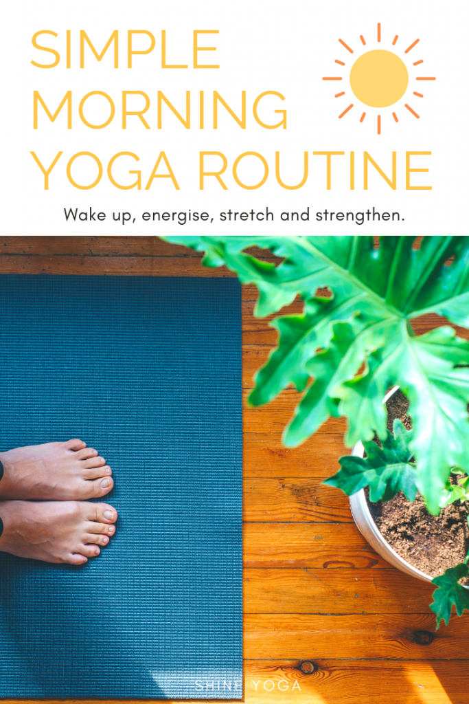 Wake up with a simple morning yoga routine to shake off sleepiness, stretch and strengthen, gently energise your body and set you up for a fantastic day.