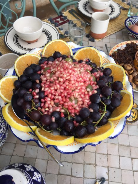 Beautiful breakfast on Shine Yoga retreat Morocco