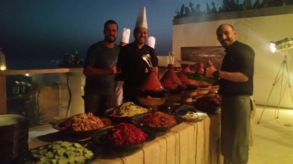Amouage barbecue in Taghazout Morocco