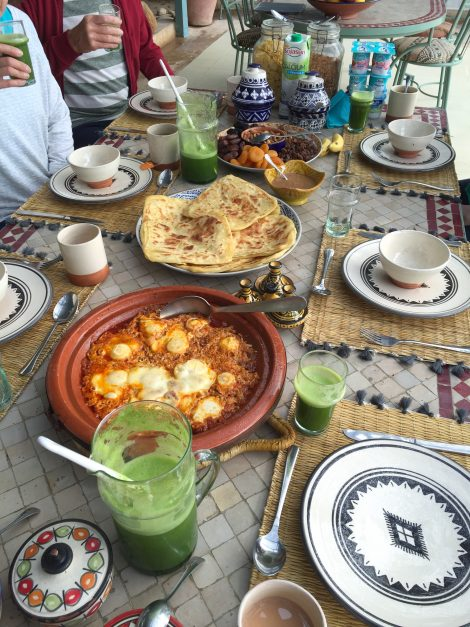 Yoga retreat Morocco healthy breakfast